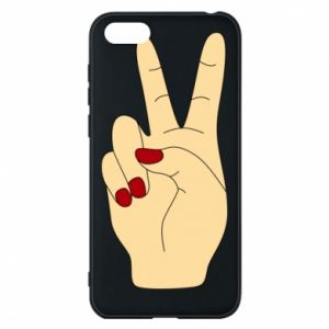 Phone case for Huawei Y5 2018 Hand peace - PrintSalon