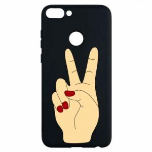 Phone case for Huawei P Smart Hand peace - PrintSalon