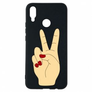 Phone case for Huawei P Smart Plus Hand peace - PrintSalon
