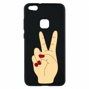 Phone case for Huawei P10 Lite Hand peace - PrintSalon