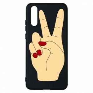 Phone case for Huawei P20 Hand peace - PrintSalon