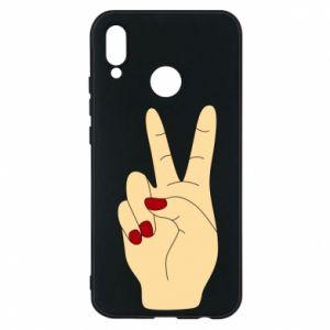Phone case for Huawei P20 Lite Hand peace - PrintSalon