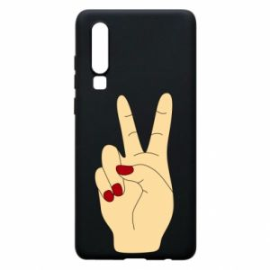 Phone case for Huawei P30 Hand peace - PrintSalon