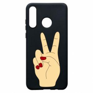 Phone case for Huawei P30 Lite Hand peace - PrintSalon