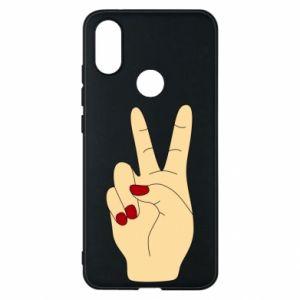 Phone case for Xiaomi Mi A2 Hand peace - PrintSalon