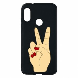 Phone case for Mi A2 Lite Hand peace - PrintSalon