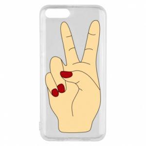 Phone case for Xiaomi Mi6 Hand peace - PrintSalon