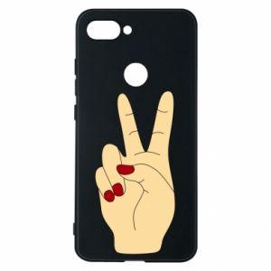 Phone case for Xiaomi Mi8 Lite Hand peace - PrintSalon