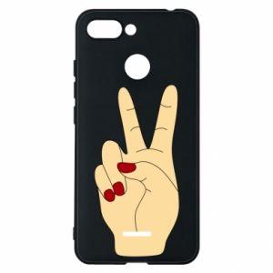 Phone case for Xiaomi Redmi 6 Hand peace - PrintSalon