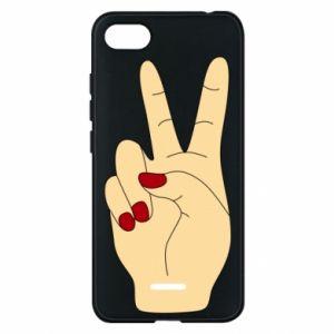 Phone case for Xiaomi Redmi 6A Hand peace - PrintSalon