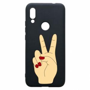 Phone case for Xiaomi Redmi 7 Hand peace - PrintSalon