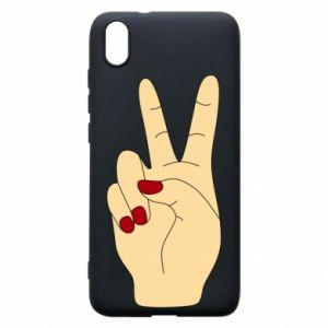 Phone case for Xiaomi Redmi 7A Hand peace - PrintSalon
