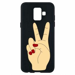 Phone case for Samsung A6 2018 Hand peace - PrintSalon