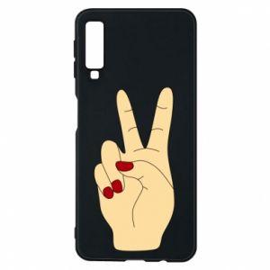 Phone case for Samsung A7 2018 Hand peace - PrintSalon
