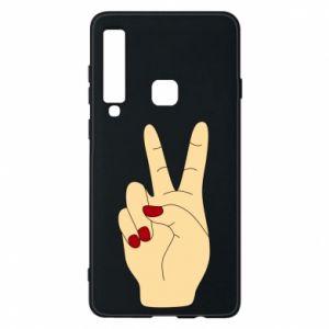 Phone case for Samsung A9 2018 Hand peace - PrintSalon