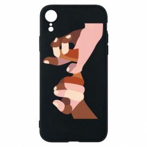 Etui na iPhone XR Hands art