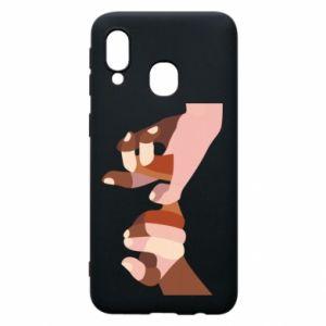 Etui na Samsung A40 Hands art