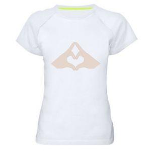 Koszulka sportowa damska Hands heart