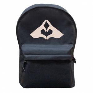 Plecak z przednią kieszenią Hands heart