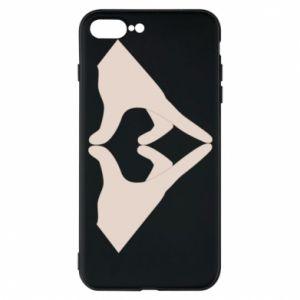 Etui do iPhone 7 Plus Hands heart