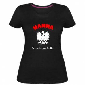 Damska premium koszulka Hanna jest prawdziwą Polką