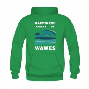 Bluza z kapturem dziecięca Happiness comes in wawes