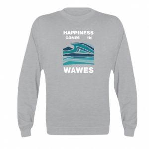 Bluza dziecięca Happiness comes in wawes
