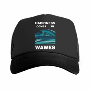Czapka trucker Happiness comes in wawes