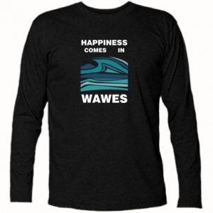 Koszulka z długim rękawem Happiness comes in wawes