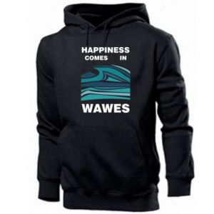 Men's hoodie Happiness comes in wawes