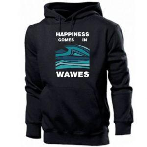 Męska bluza z kapturem Happiness comes in wawes