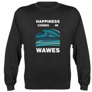 Bluza (raglan) Happiness comes in wawes
