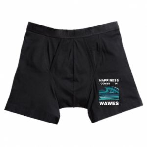 Boxer trunks Happiness comes in wawes