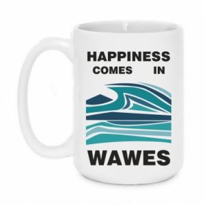 Kubek 450ml Happiness comes in wawes