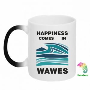 Kubek-kameleon Happiness comes in wawes