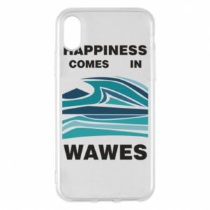 Etui na iPhone X/Xs Happiness comes in wawes