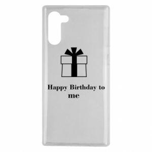 Samsung Note 10 Case Happy Birthday to me