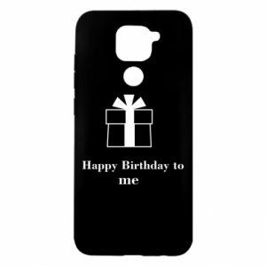 Xiaomi Redmi Note 9 / Redmi 10X case % print% Happy Birthday to me
