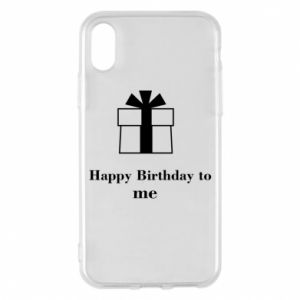 Etui na iPhone X/Xs Happy Birthday to me