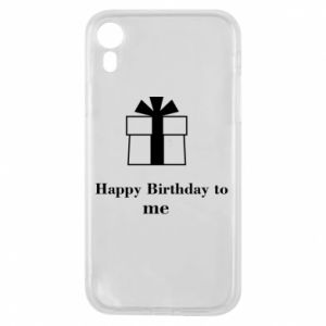 Etui na iPhone XR Happy Birthday to me
