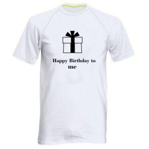 Men's sports t-shirt Happy Birthday to me