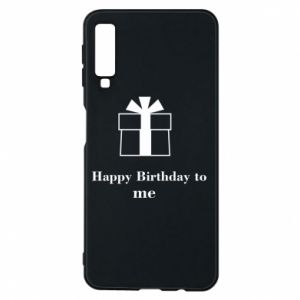 Etui na Samsung A7 2018 Happy Birthday to me