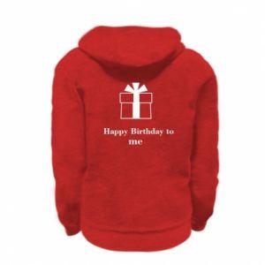 Kid's zipped hoodie % print% Happy Birthday to me