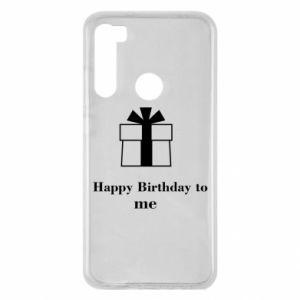 Xiaomi Redmi Note 8 Case Happy Birthday to me