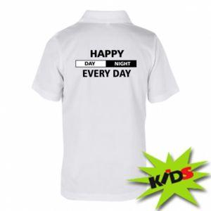 Dziecięca koszulka polo Happy every day