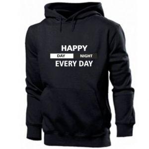 Męska bluza z kapturem Happy every day