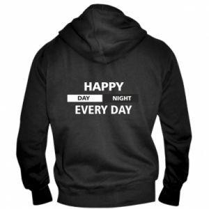 Męska bluza z kapturem na zamek Happy every day