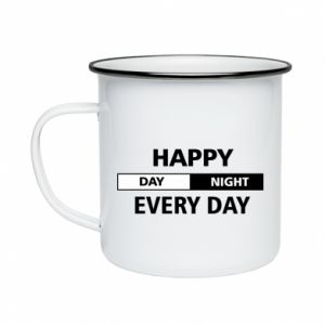 Kubek emaliowane Happy every day