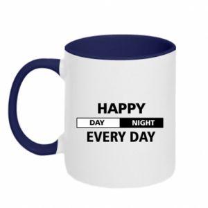 Kubek dwukolorowy Happy every day