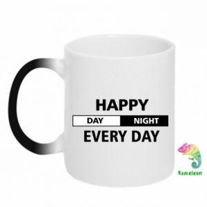 Kubek-kameleon Happy every day